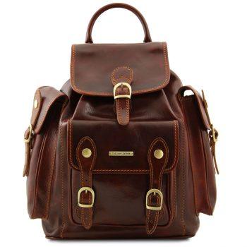 Leather Travel Backpack - Pechino