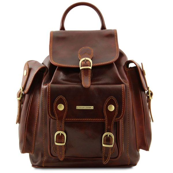 Leather Travel Backpack - Pechino