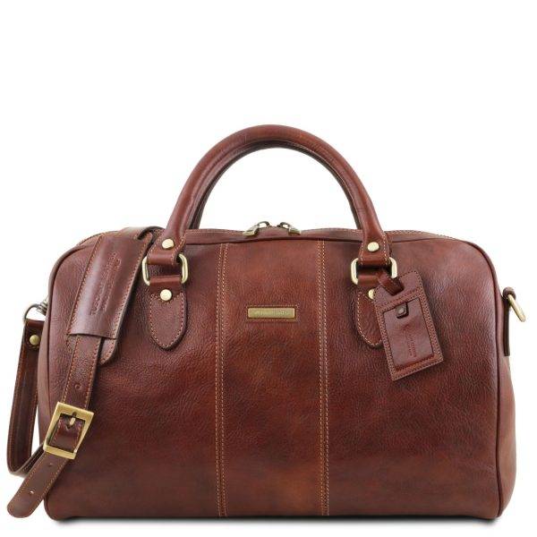 Leather Travel Duffle Bag - Small Size - Lisbon