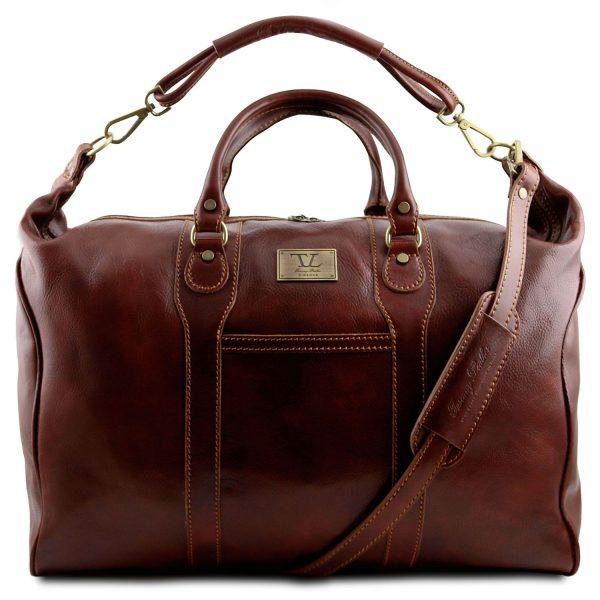 Leather Travel Weekender Bag - Amsterdam