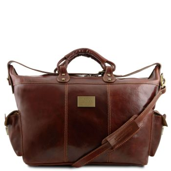 Leather Travel Weekender Bag - Porto