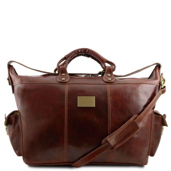 Leather Travel Weekender Bag - Porto