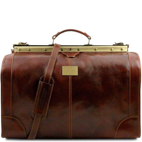 MADRID Gladstone Leather Bag - Large size