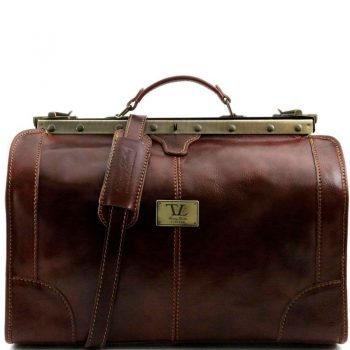 MADRID Gladstone Leather Bag - Small size