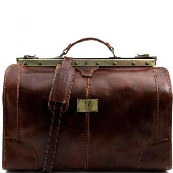 MADRID Gladstone Leather Bag - Small size
