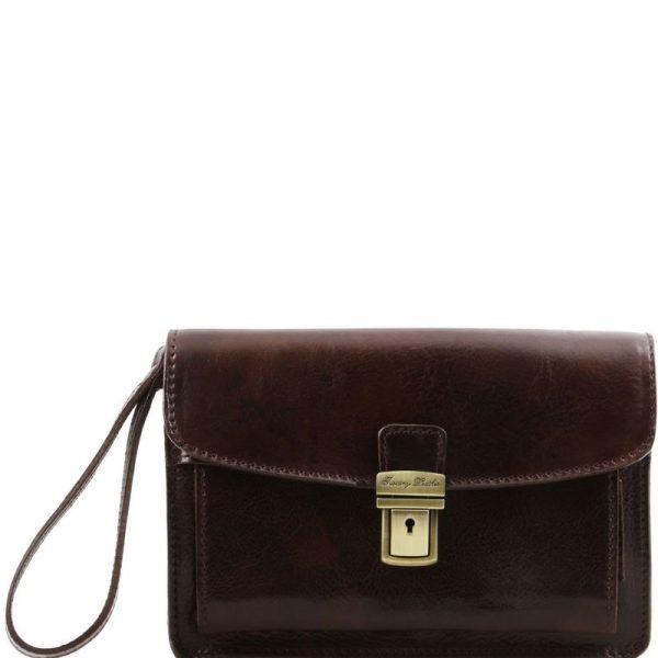 MAX Leather handy wrist bag