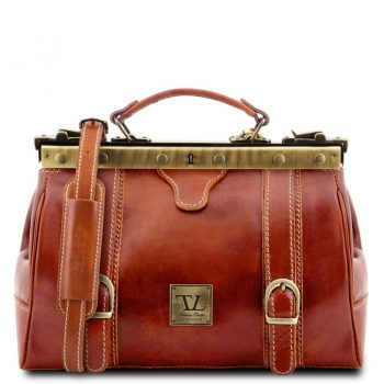 MONALISA Doctor gladstone leather bag with front straps