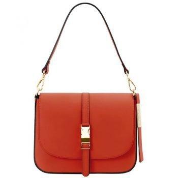 NAUSICA Leather shoulder bag