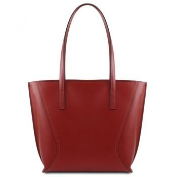 NEMESI Leather shopping bag
