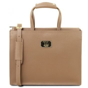 PALERMO Saffiano Leather briefcase 3 compartments for woman