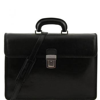 PARMA Leather briefcase 2 compartments