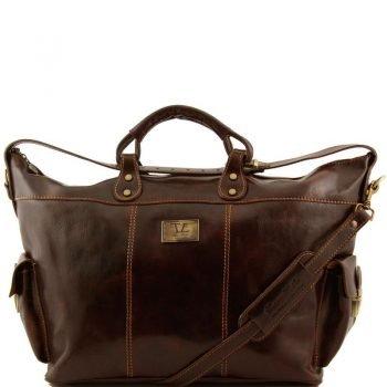 PORTO Travel leather weekender bag