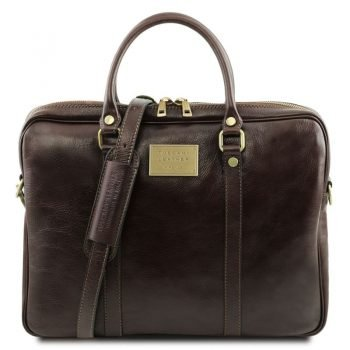 PRATO Exclusive leather laptop case