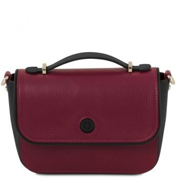 PRIMULA Leather clutch handbag