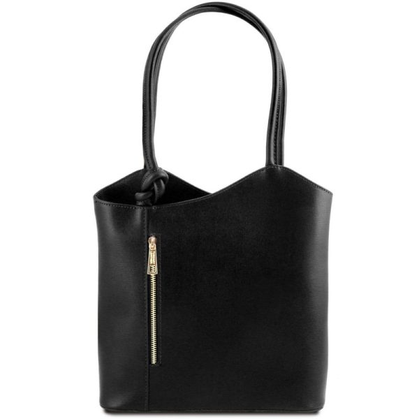 Patty Saffiano Leather Convertible Bag