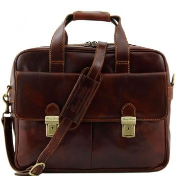 REGGIO EMILIA Exclusive leather laptop case