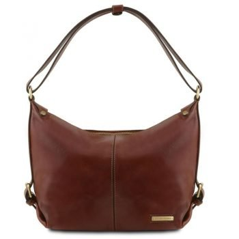 SABRINA Leather hobo bag