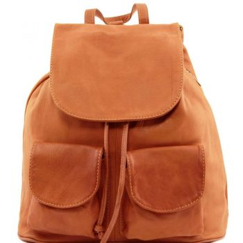 SEOUL Leather backpack Large size