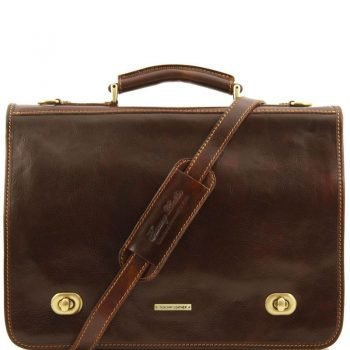 SIENA Leather messenger bag 2 compartments