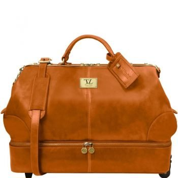 SIVIGLIA Two wheeles double-bottom Gladstone leather bag
