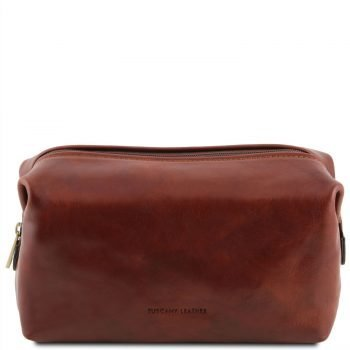 SMARTY Leather toilet bag - Large size