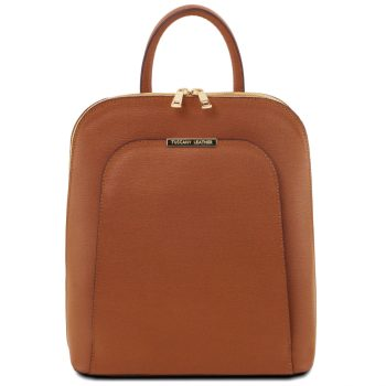 Saffiano Leather Backpack for Women - Vinadio