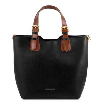 Saffiano Leather Tote Handbag - Lucy