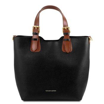 Saffiano Leather Tote Handbag - Lucy