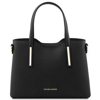 Small Leather Tote Bag - Olimpia