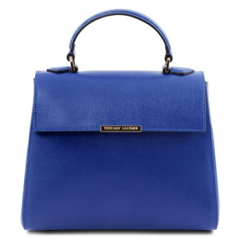 Small Saffiano Leather Duffle Handbag