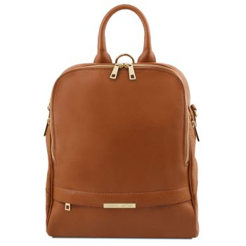 Soft Leather Backpack for Women - Brignon