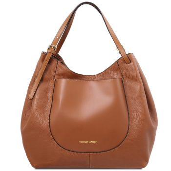 Soft Leather Shoulder Bag - Cinzia