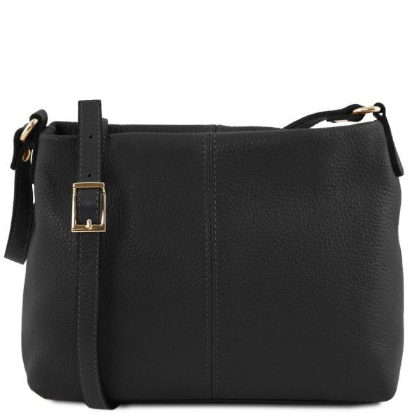 Soft Leather Shoulder Bag - Lyon