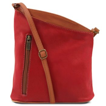 Soft Leather Unisex Cross Bag - Marmora