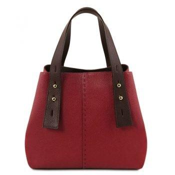 TL BAG Leather shopping bag