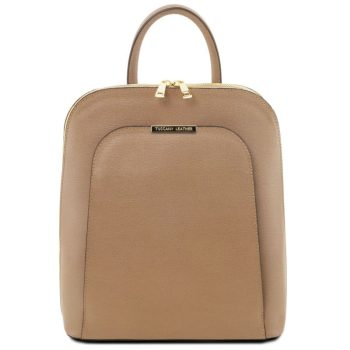 TL BAG Saffiano leather backpack for women