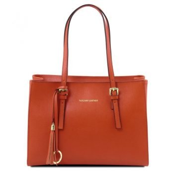 TL BAG Saffiano leather handbag