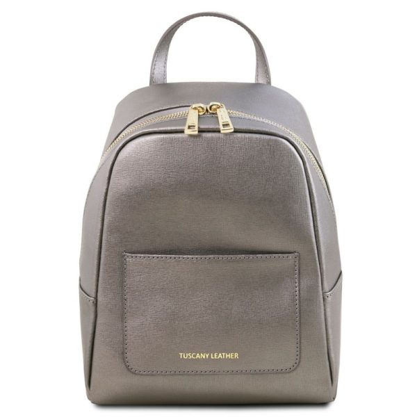 TL BAG Small Saffiano leather backpack for woman