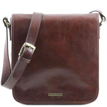 TL MESSENGER One compartment leather shoulder bag