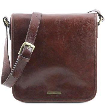 TL MESSENGER One compartment leather shoulder bag