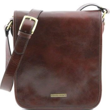 TL MESSENGER Two compartments leather shoulder bag