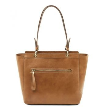 TL NEOCLASSIC Leather tote with two handles