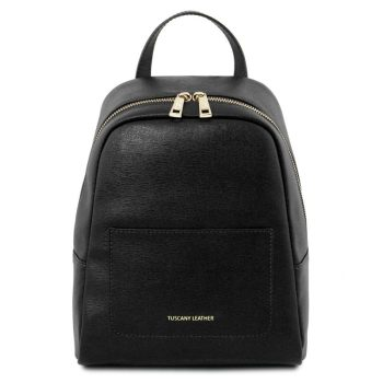 TL Small Saffiano Leather Backpack for Woman