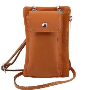 TL Soft Leather Cellphone Holder Mini Cross Bag