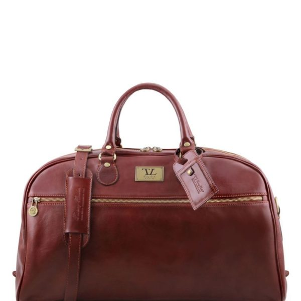 TL VOYAGER Leather travel bag - Large size