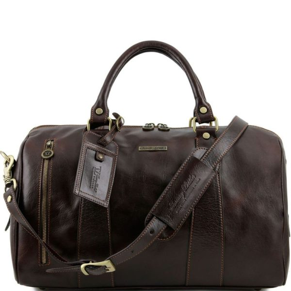 TL VOYAGER Travel leather duffle bag - Small size