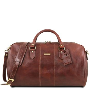 Travel Leather Duffle Bag - Large Size - Lisbon