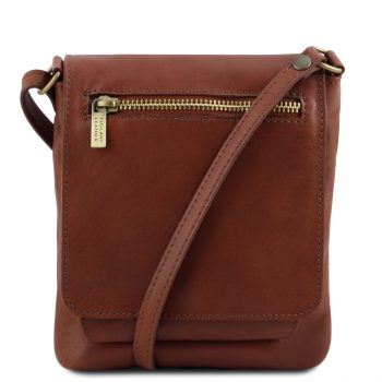 Unisex Soft Leather Shoulder Bag - Sasha