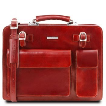VENEZIA Leather briefcase 2 compartments