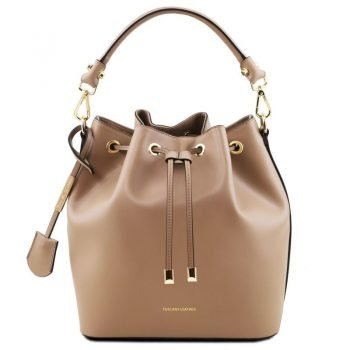 VITTORIA Leather secchiello bag